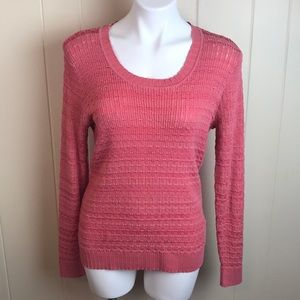 3/$27 Liz Claiborne Scoop Neck Ribbed Sweater